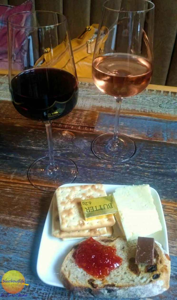 wine and cheese at z hotel Glasgow visitor guide