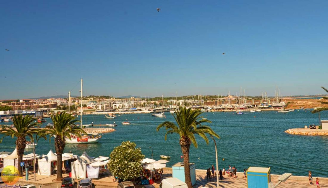 Lagos Portugal view with boats.