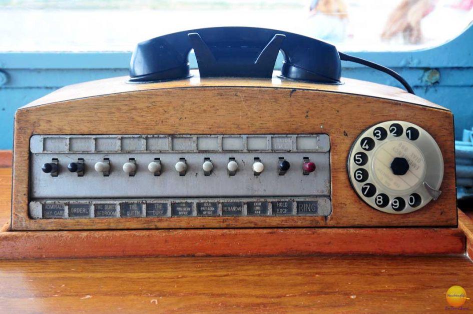 royal yacht britannia old wooden phone