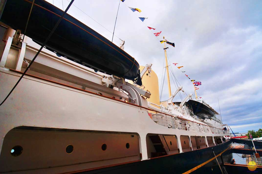 side view of the Royal yacht Britannia