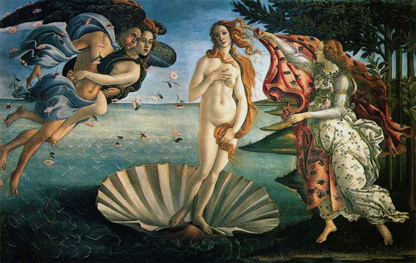 boticelli image of birth of venus