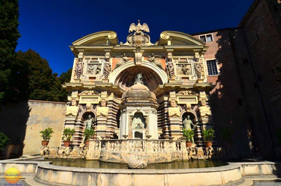 villa d'este fountain of the organ