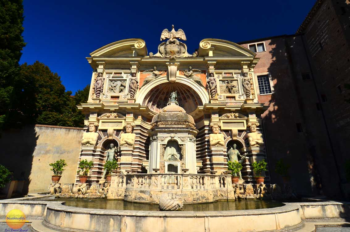 villa d'este fountain of the organ