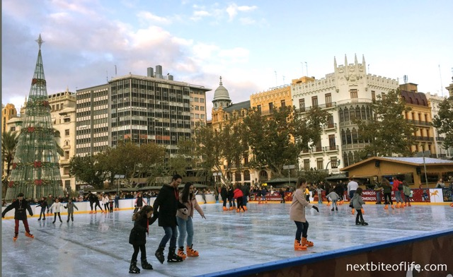 skaters on the rink in Valencia