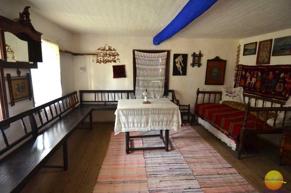 interior hut dimitrie gusti village
