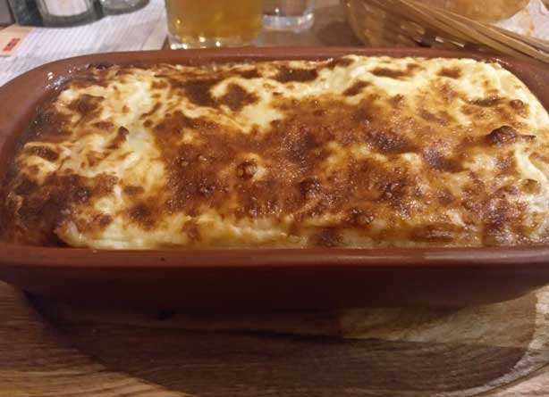 how to spend 4 days in beautiful Bucharest. lasagna platter