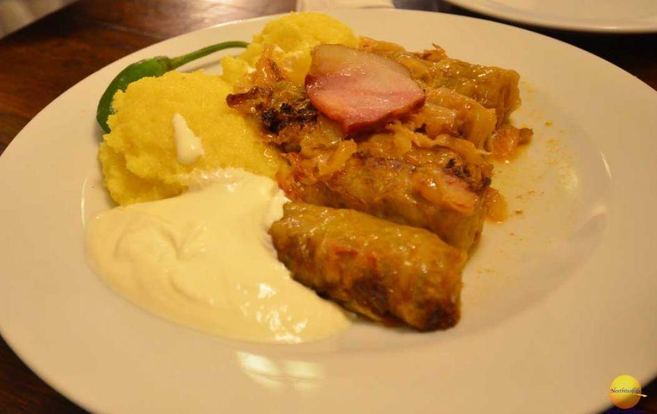 sarmale with polenta caru cu bere