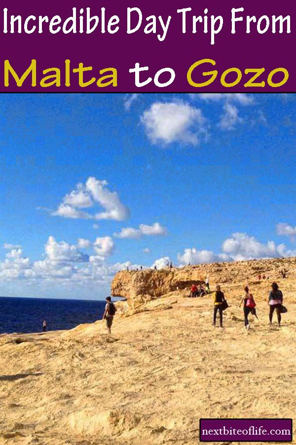 Day trip from Malta to Gozo #malta #gozo #azurewindow #daytrip #maltaguide #gozoguide