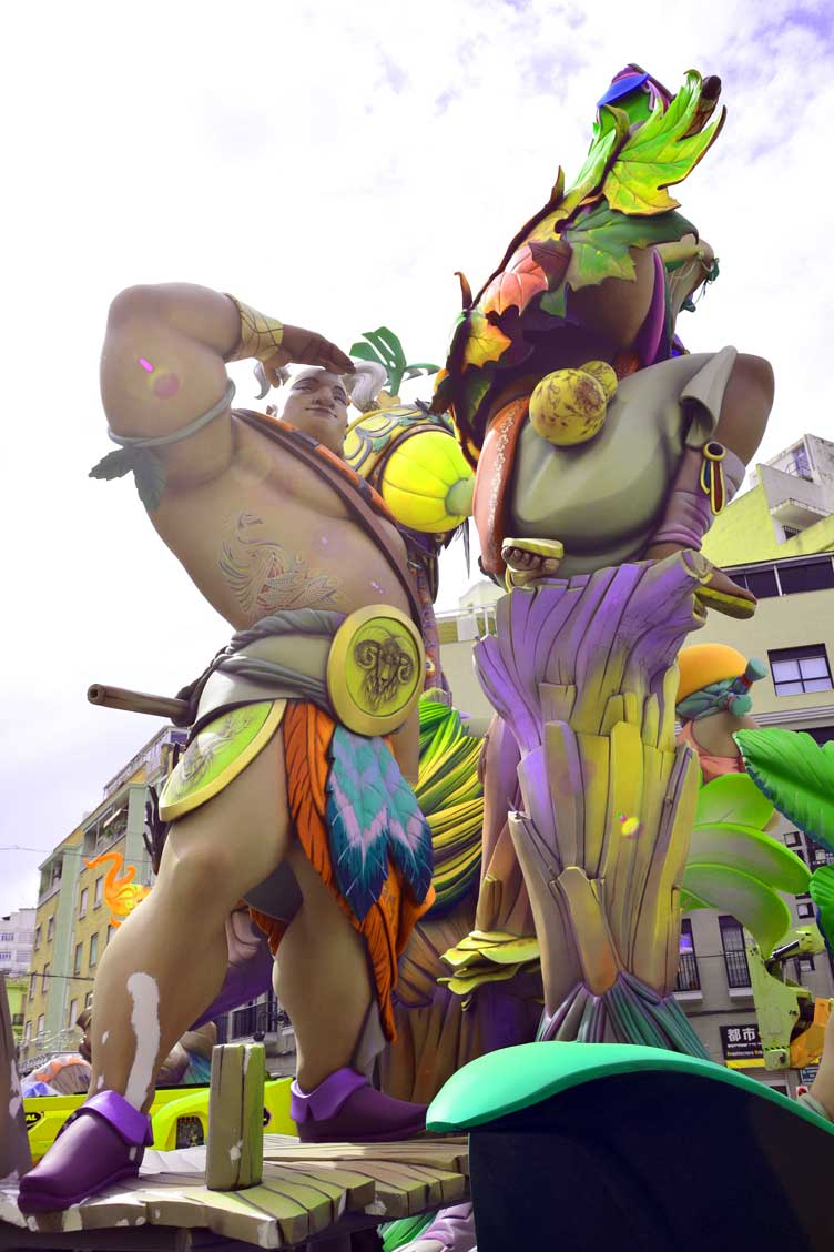 Fallas in valencia Spain experience ninots gladiator