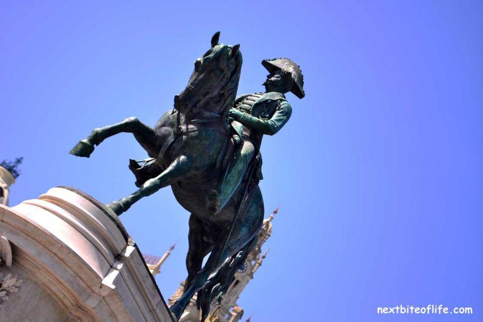 king pedro iv statue liberty square porto portugal