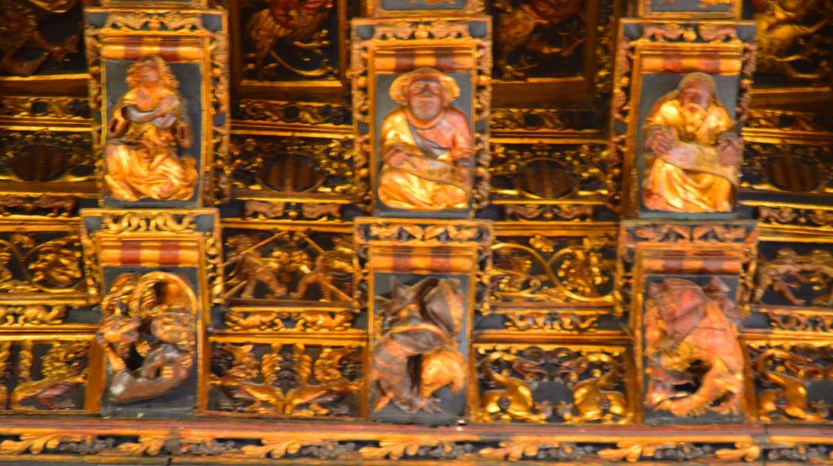 ceiling busts la lonja valencia