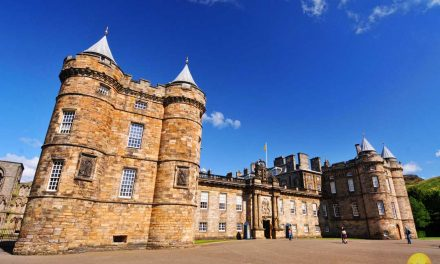 Historic Holyrood Palace Of Royalty Edinburgh Scotland