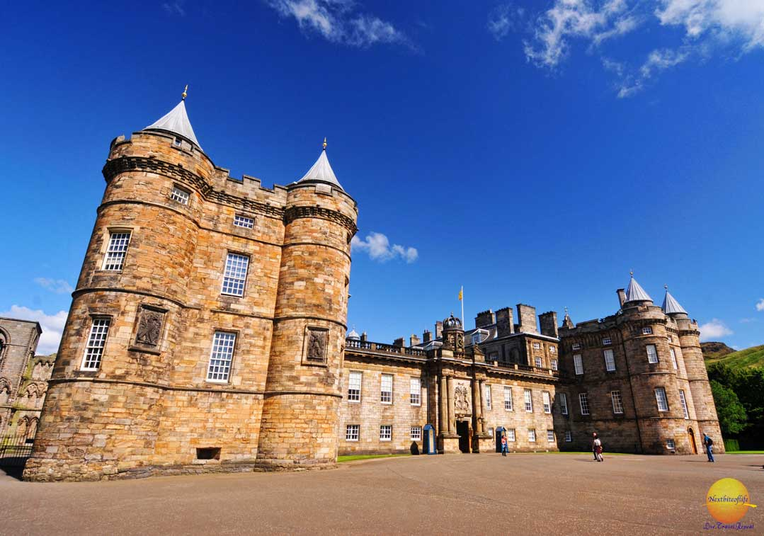 historic Holyrood palace of royalty in Edinburgh