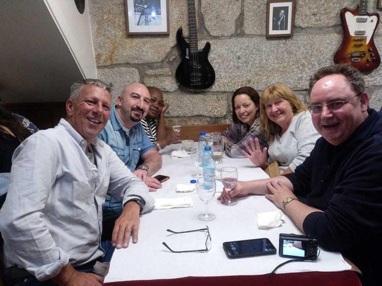 friends at Dom Antonio restaurant Porto part of the Luxury budget guide to Porto
