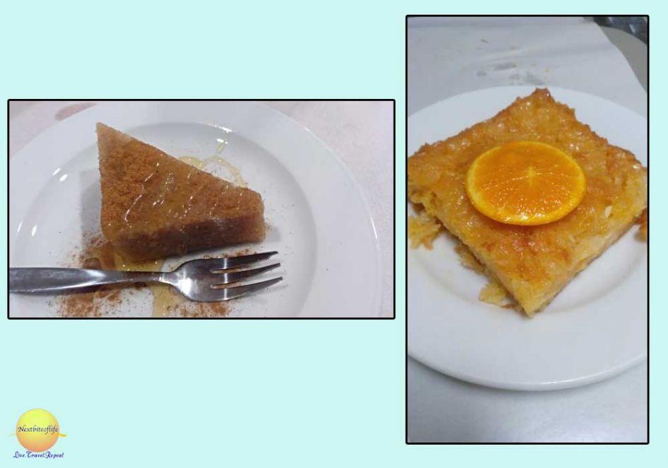 desserts in athens greece orange pie