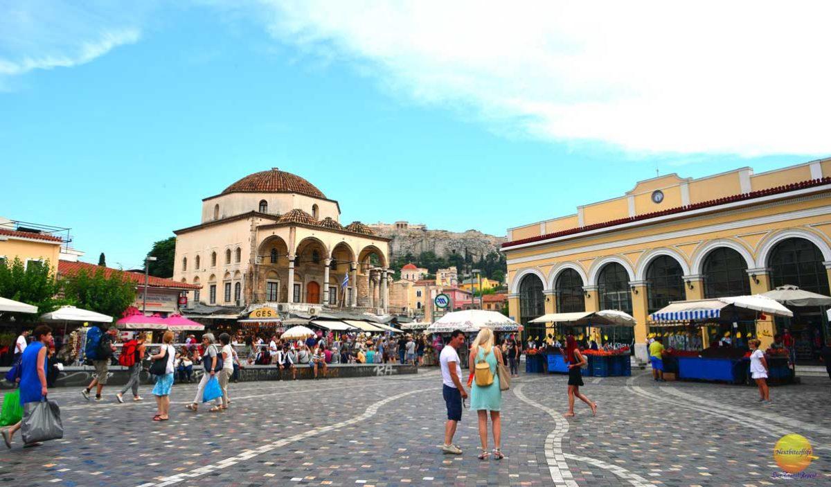 Good, bad and ugly sides of Athens guide. Pic of Monastiraki Square