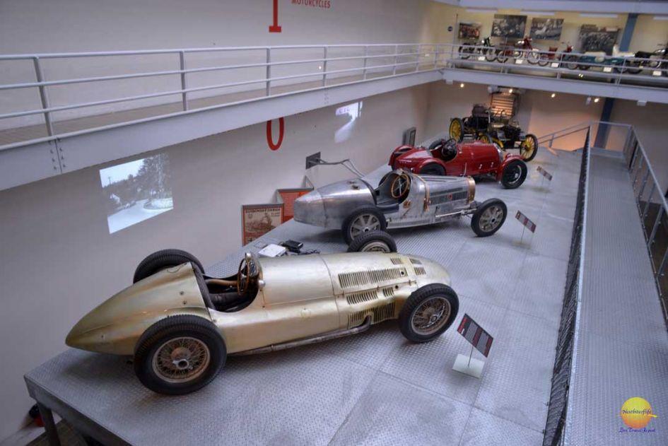 sports car display at national technical museum prague.