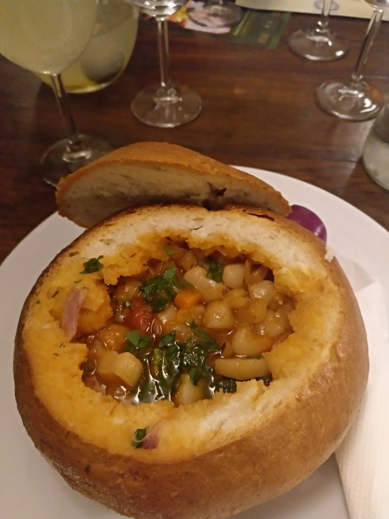 bean soup in bread romania