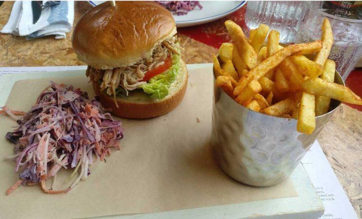 pulled pork burger dresden turtle bay restaurant