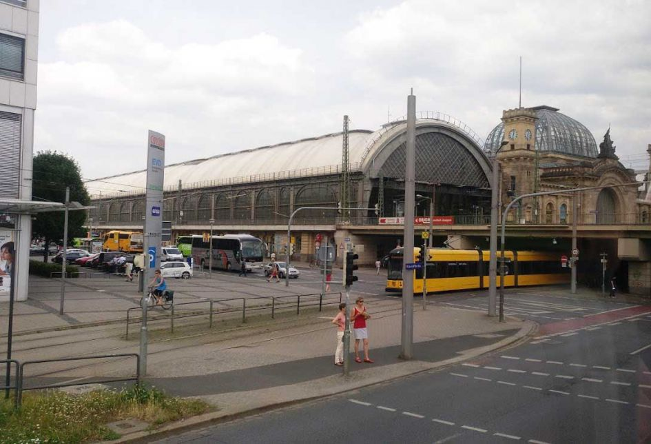 bus station dresden germany