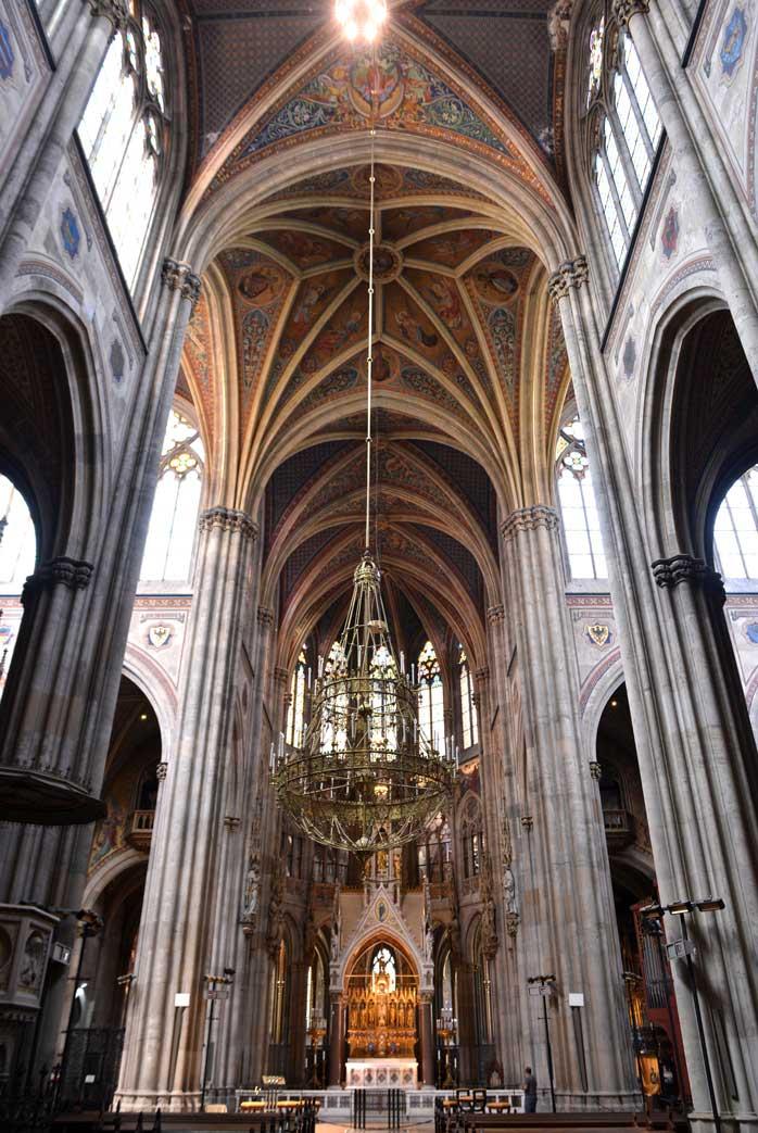 volvikirche cathedral visit in our 7 days in Vienna