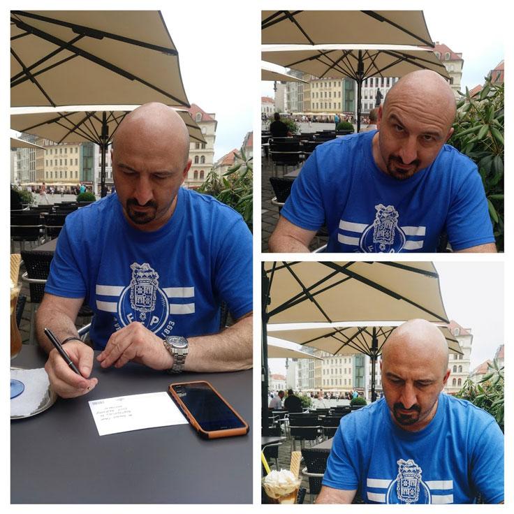 postcard writing guy