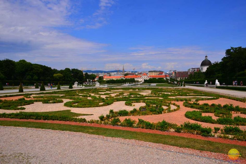 belvedere gardens and views of the city in our 7 days in Vienna guide