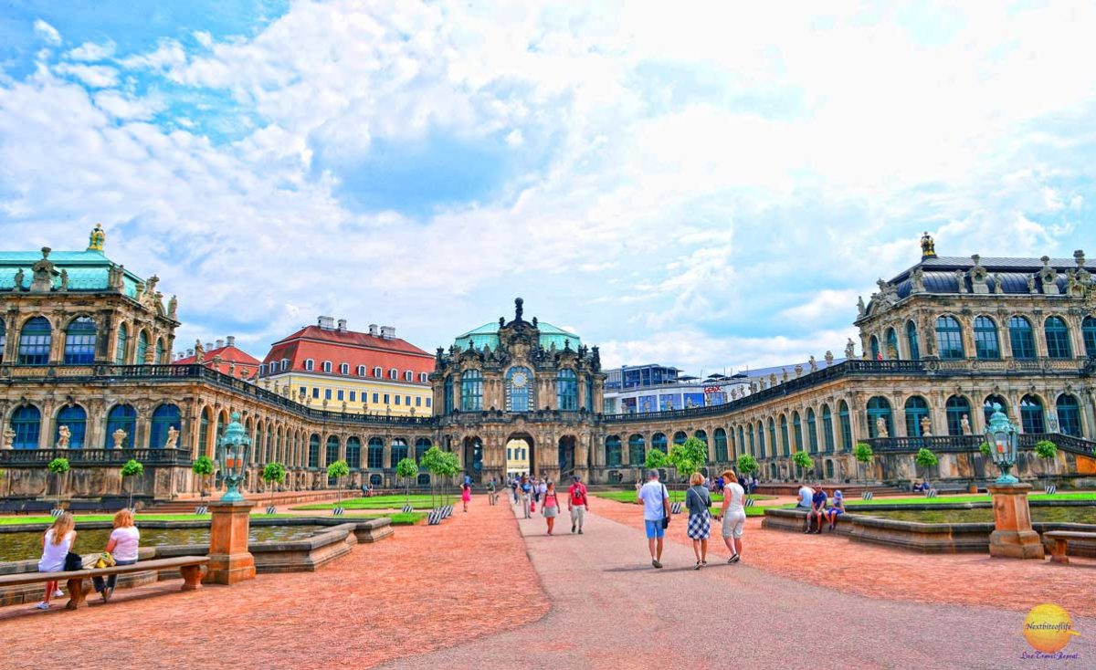 Zwinger palace Dresden interior
