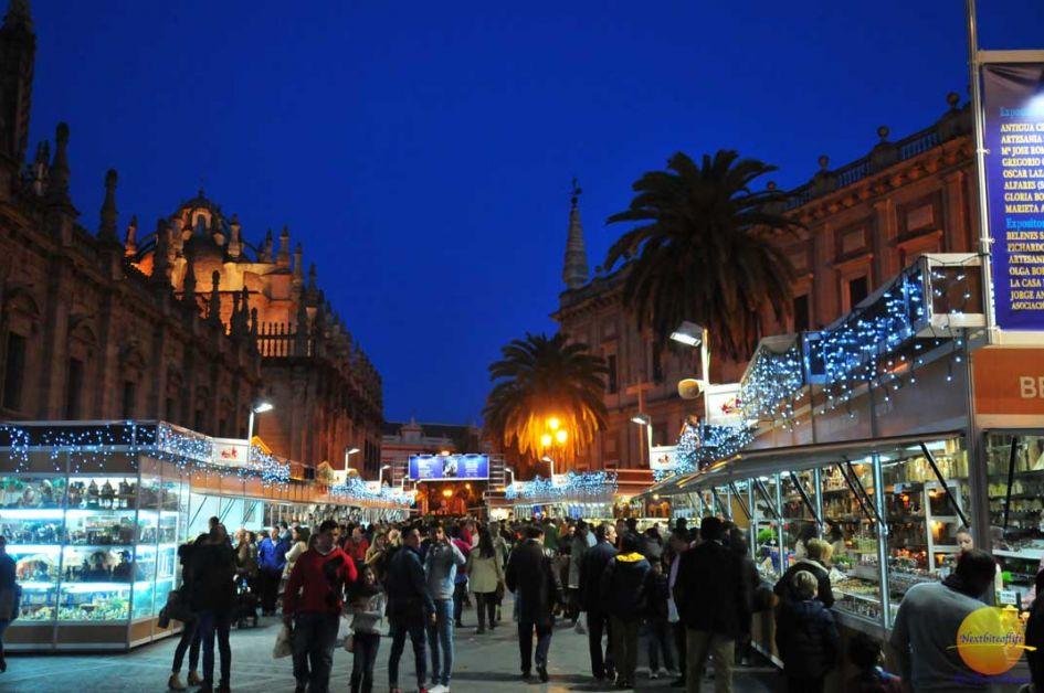 christmas market seville spain