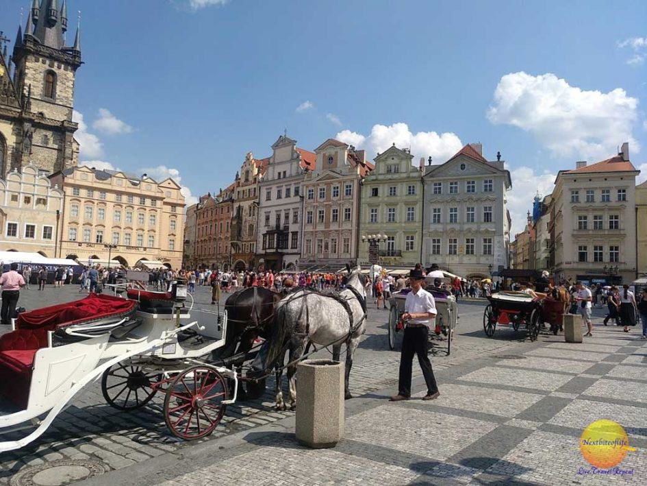 Prague carriage ride in old center