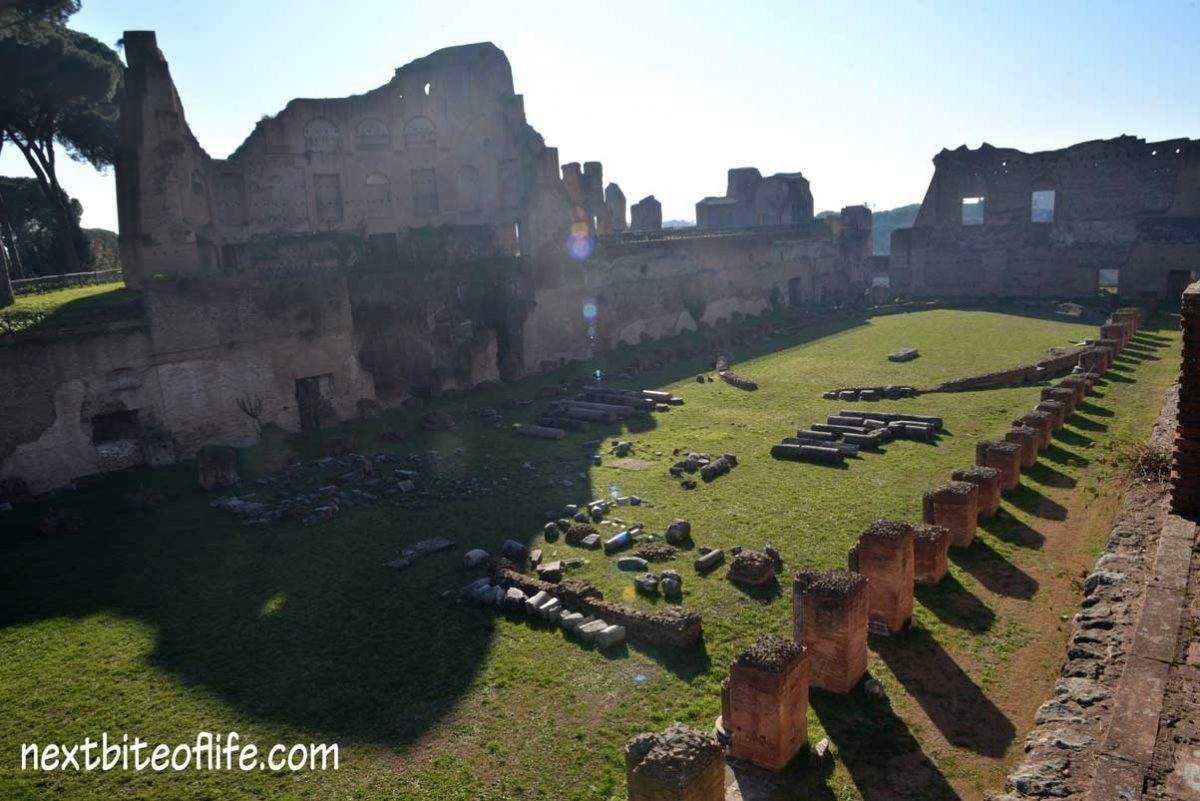 remains of Emperor Domitian chariot race track
