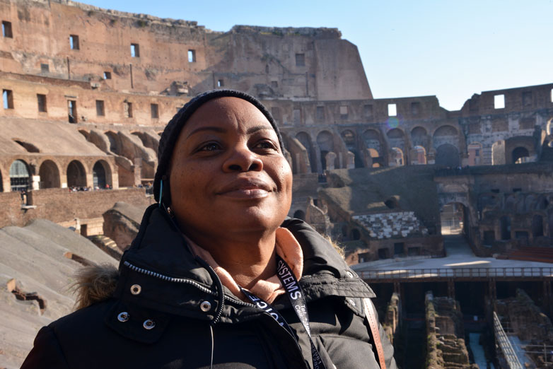 me at the colosseum Rome