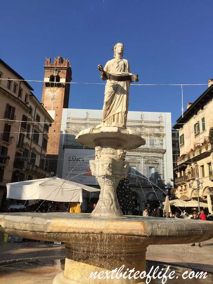 Madonna Verona statue and fountain Verona