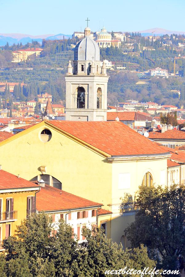 Verona skyline with church