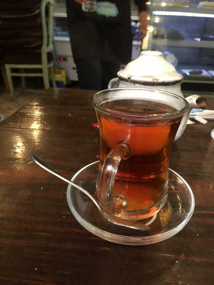 24 hours in Cairo from Hurghada -  glass of Egyptian tea in Cairo