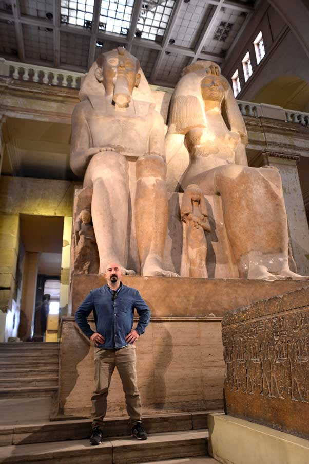 museum statues at the Egyptian Museum Cairo