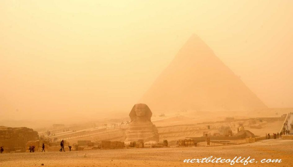 Pyramids of Giza and Sphnix