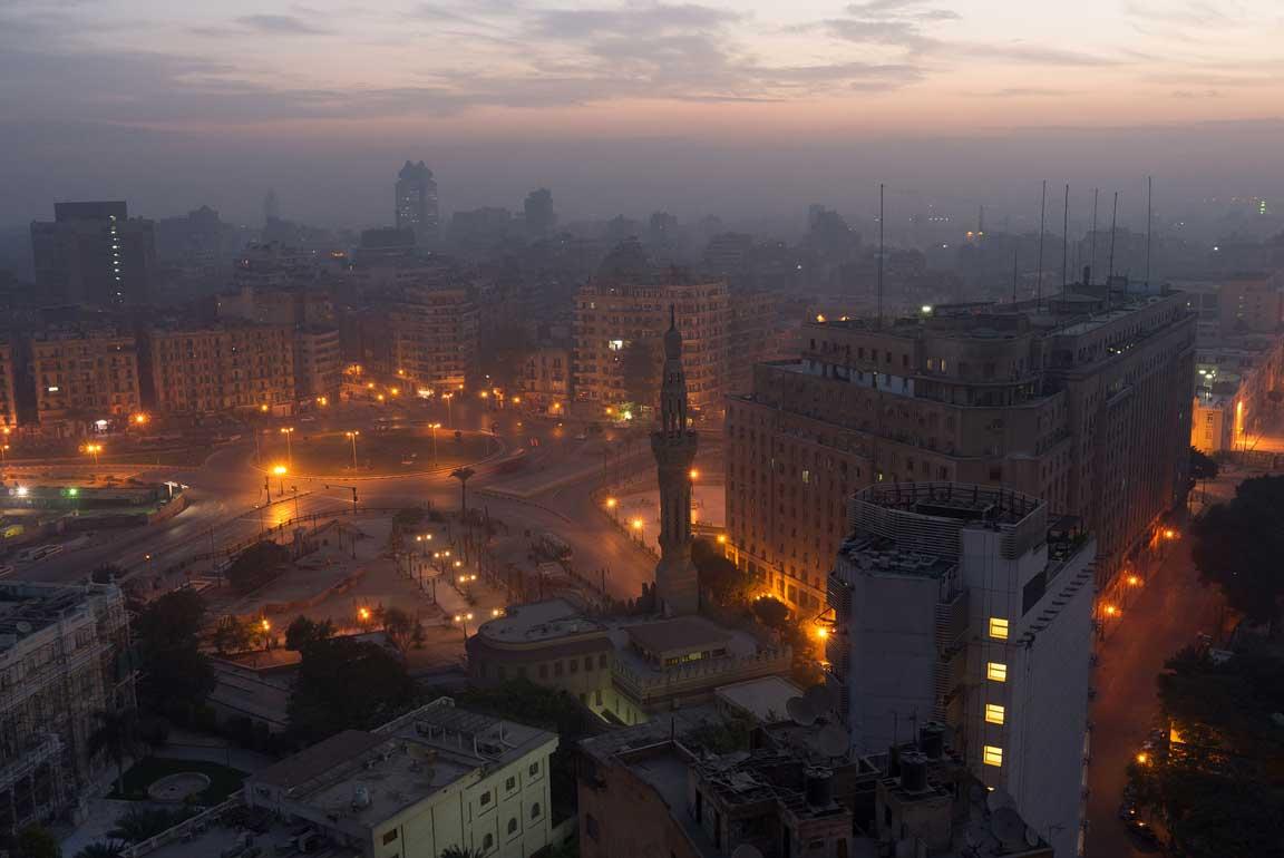 Tahir square view Egypt