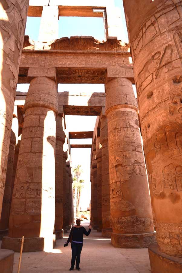 hypostile columns in Karnak temple