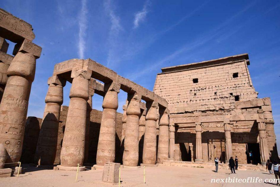 Luxor temple columns Egypt