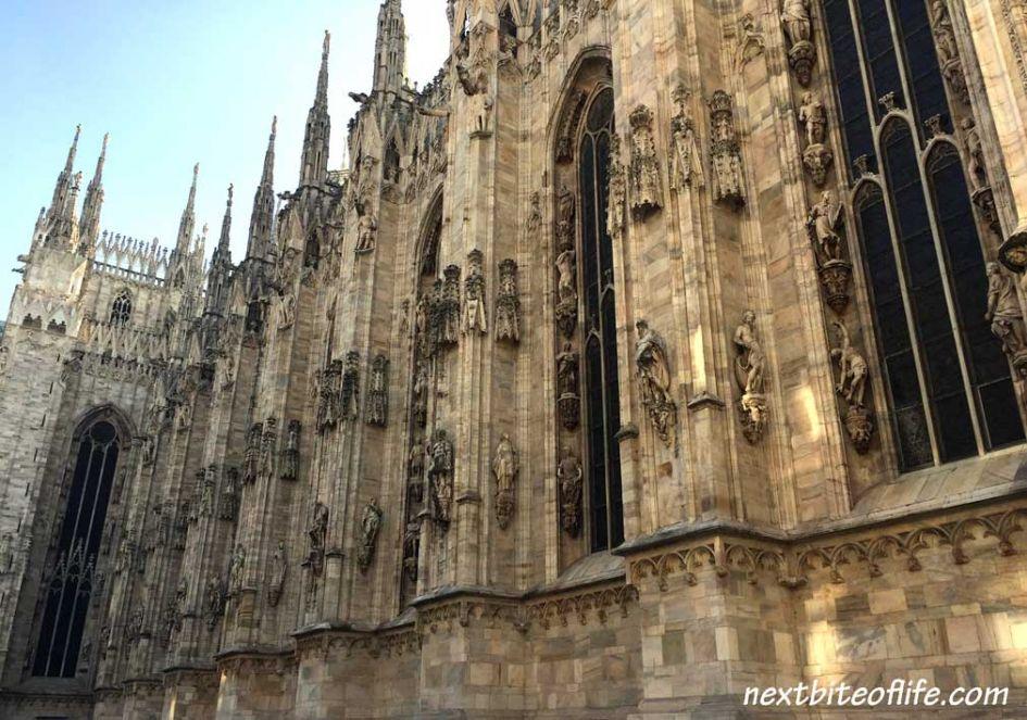 Duomo Milan side view