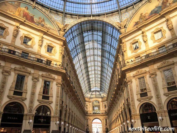 Interior of the Galleria Victor Emanuel in Milan