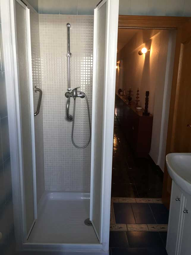 shower stall in bathroom