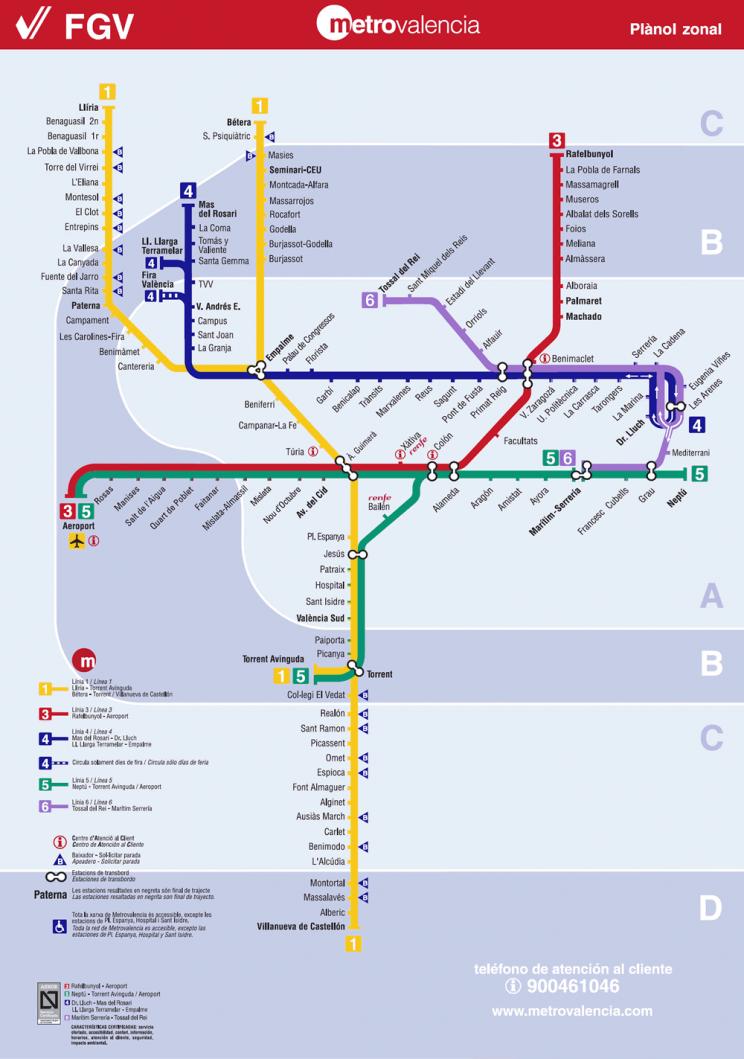 Metro Map of Valencia