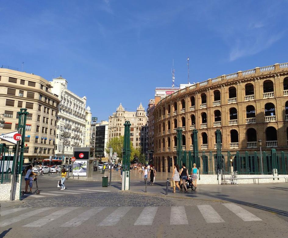 Xativa metro in front of bullring Valencia