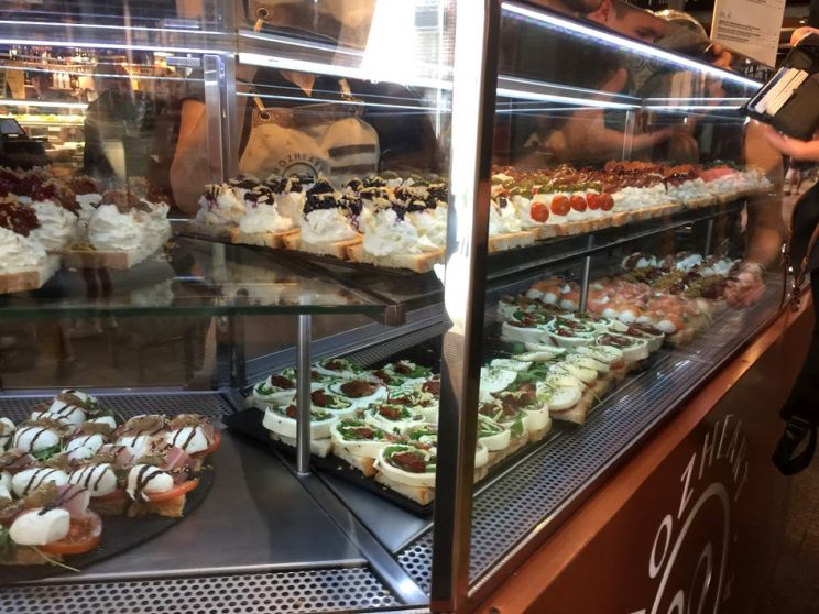 desserts at market stall Madrid San Miguel