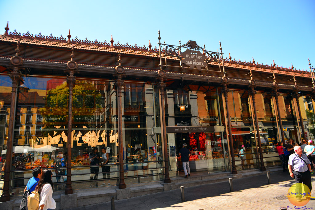 Mercado de San Miguel entrance Madrid