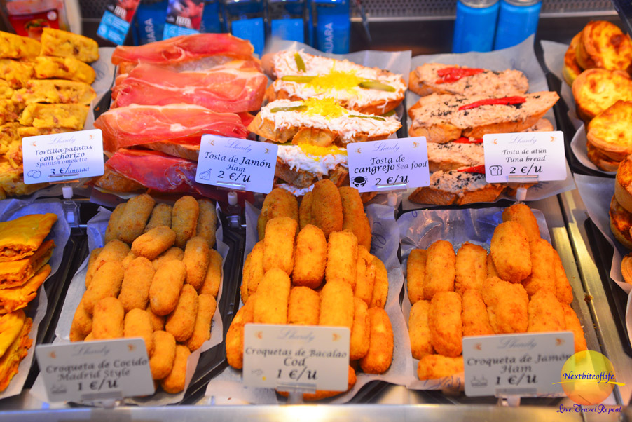 croquettes at Mercado San Miguel
