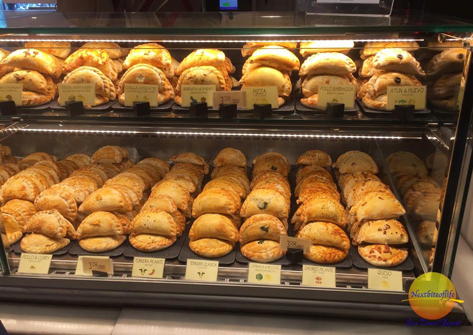 empanada varieties Mercado de San Miguel market Madrid