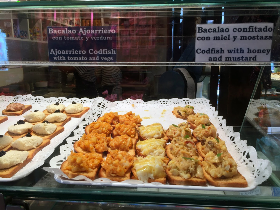 tapas at mercado Miguel Madrid